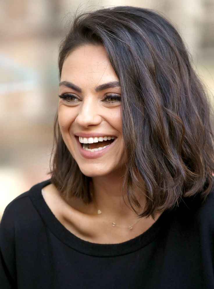 Feb 14, 2020 - From air-dried waves (complete with purple eyeshadow) to the most-loved bob in Hollywood, scroll through to see every iteration of the Mila Kunis haircut.
