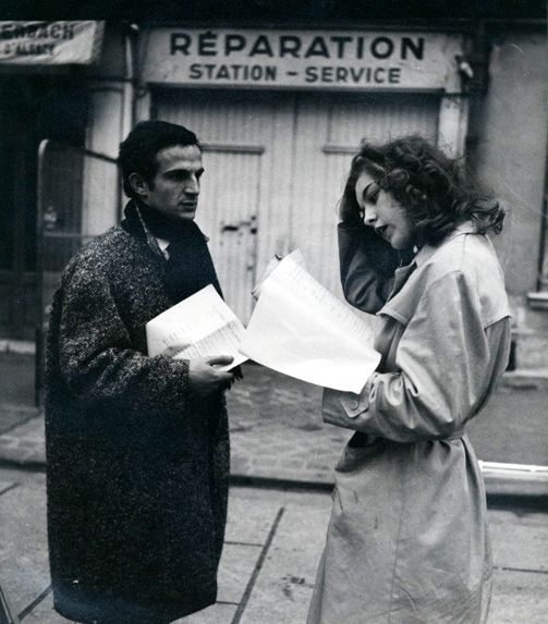 François Truffaut and Marie Dubois. Shoot the Piano Player