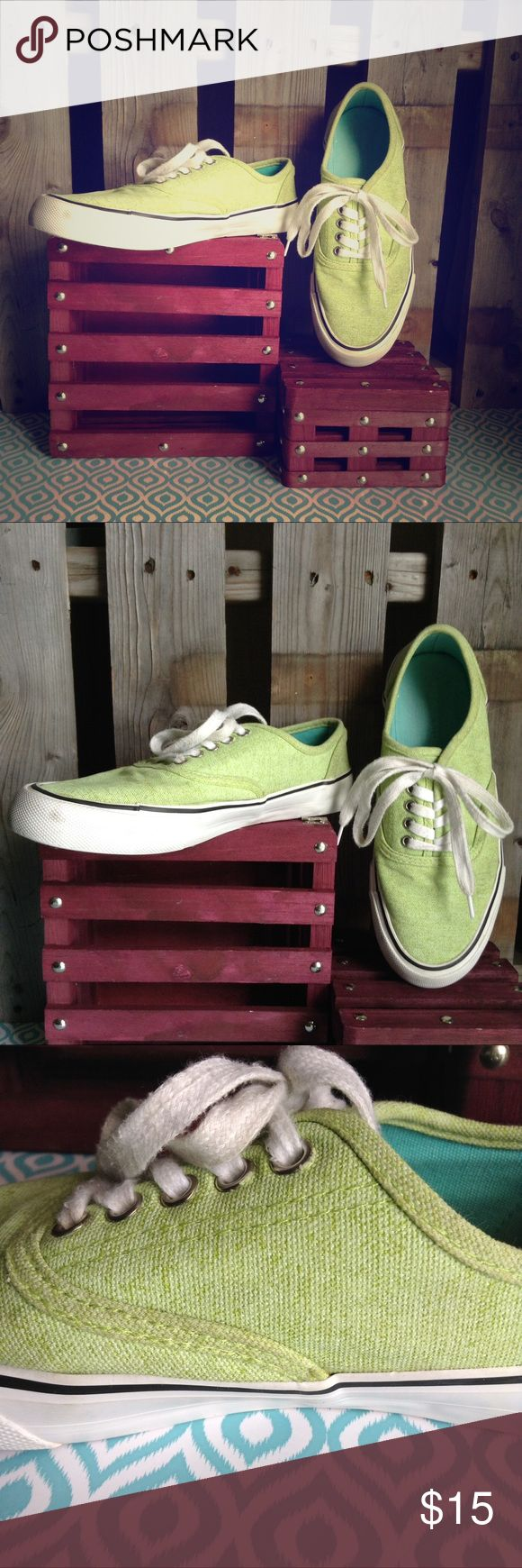 Mossimo Mint green tweed denim weave target vans Good used condition. Light wear. All flaws pictured. Not vans branded. Mossimo target brand. Size 8. True to size. Mossimo Supply Co Shoes Sneakers