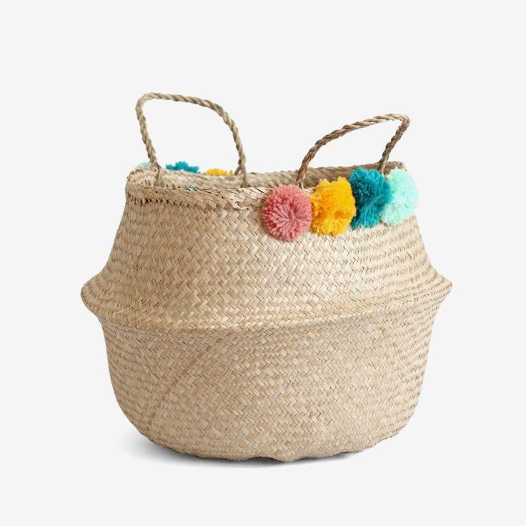 PomPom Belly Basket - Large