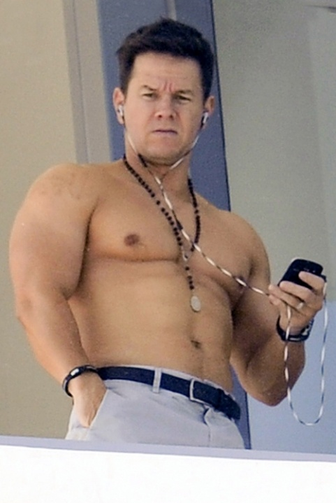 A Shirtless Mark Wahlberg Shows Off His Buff Body While Relaxing on His Balcony in Miami