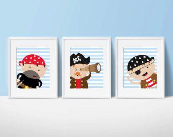 Muchacho bebé vivero arte pirata vivero juegos infantiles
