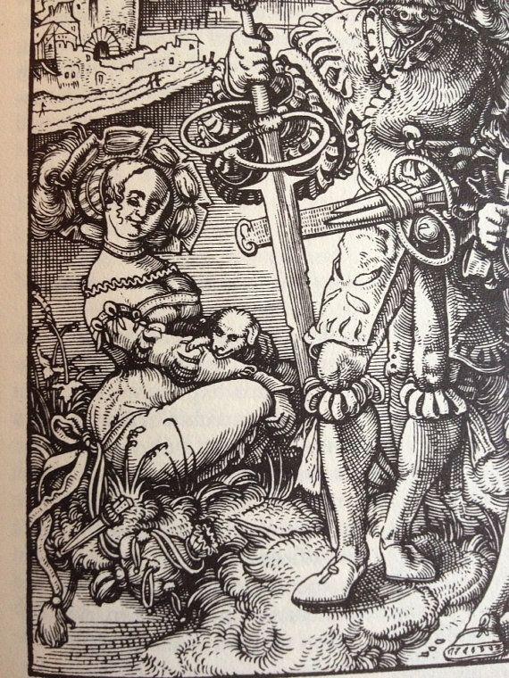 Tod mit Dirne, Landsknecht und Raislaufer, Urs Graf, 1524  From Pimp Your Garb on Etsy (Whilja de Gothe)