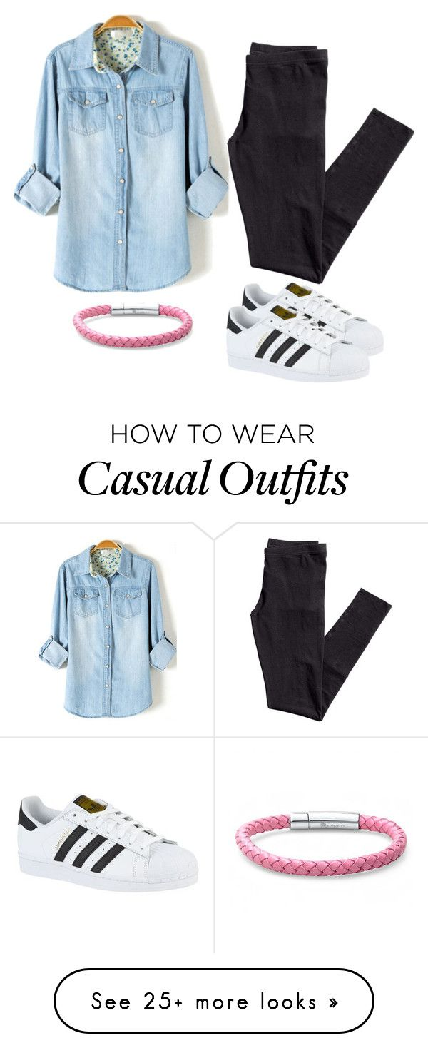 """""""Casual Chambray"""" by swimsinger on Polyvore featuring H&M, adidas and Oxford Ivy"""