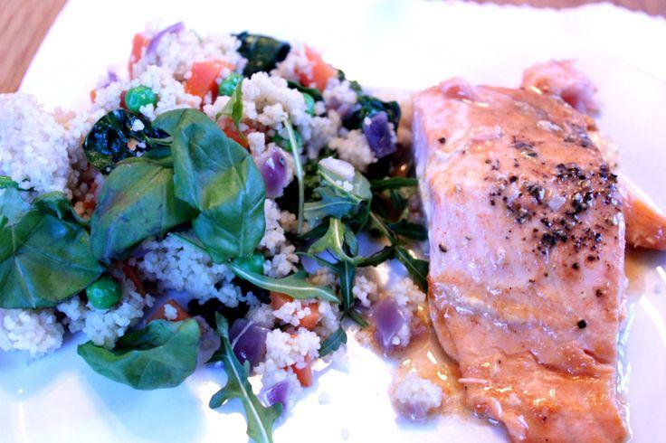 coscous salat og laks
