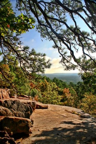 Robbers Cave State Park, Wilburton Oklahoma, USA. In the Sans Bois Mountains in Southeast Oklahoma.