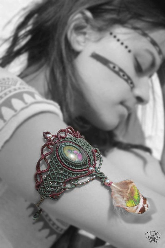 Shamanic Bracelet Itxel African and Mystical piece by MaMachavaya