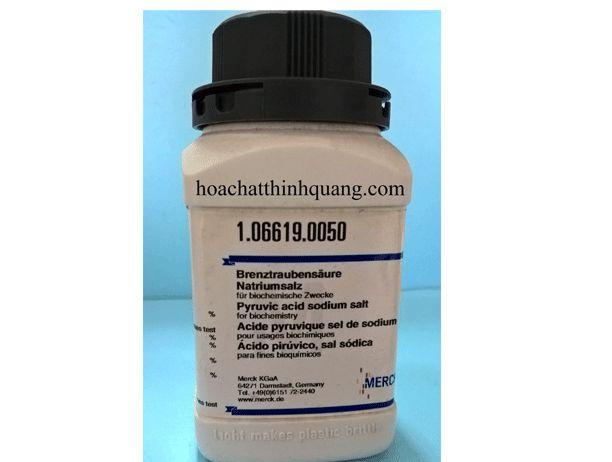 Pyruvic Acid Sodium Salt Hóa chất sinh hóa Pyruvic acid sodium salt là chất đệm zwitterionic trong việc chuẩn bị các môi trường nuôi cấy các vi sinh vật và tế bào thực vật.