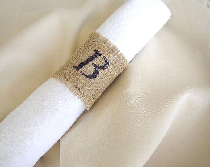 10-30 Burlap Lace Napkin Holder – Wedding Napkin Rings – Rustic Wedding Decor – Fall Wedding – Rustic Napkin Holder – Woodland Wedding Rings