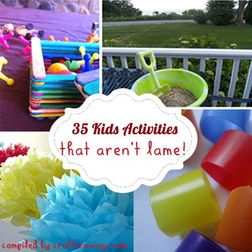 35 Easy Kid Activities That Aren't Lame - Craft Cravings