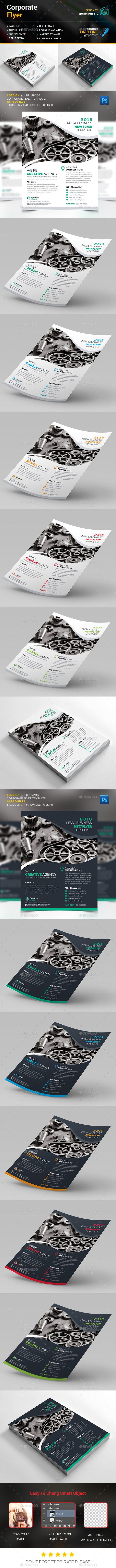 Corporate Flyer Template PSD #design Download: http://graphicriver.net/item/corporate-flyer/14004971?ref=ksioks