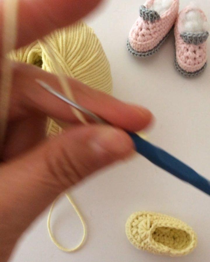 amigurumi-bebek-ayakkabisi-nasil-orulur | Amigurumi modelleri ... | 900x720