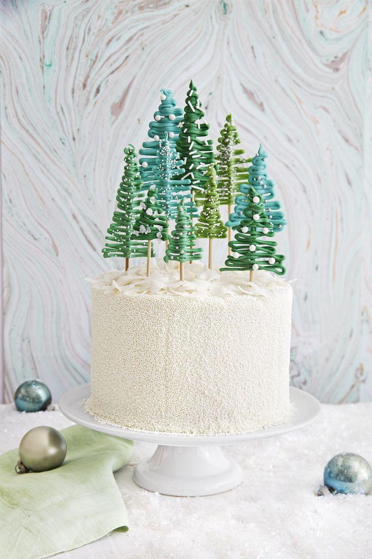 Pine Tree Forest Cake - TownandCountrymag.com