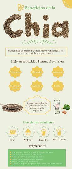 Conoce las 10 impresionantes propiedades de la chía, después de leerlas no olvidarás agregarla a tu dieta. #PropiedadesdeChia #Salud #Nutricion #Bienestar