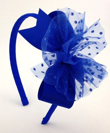 Bright Blue Sparkle Headband by Fairy Bow Mother #zulily #zulilyfinds