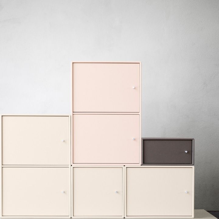 Montana in nude colours. #montana #furniture #danish #design #nude #pastels #cabinets #flexible #composition