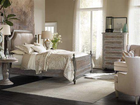 Hooker Furniture True Vintage Upholstered Panel Bed Bedroom Set Design Ideas