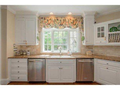 Cute Window Valance Over Kitchen Sink
