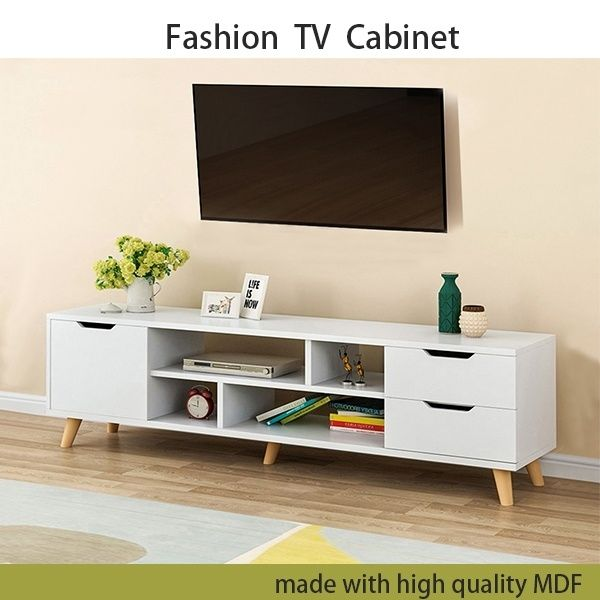 Modern Wood Multipurpose Organizer Tv Cabinet Coffee Table Television Stands Tv Stand For Home Living Room Furniture With 3 Storage Cabinets 4 Open Shelves 14 Living Room Tv Stand Living Room Tv