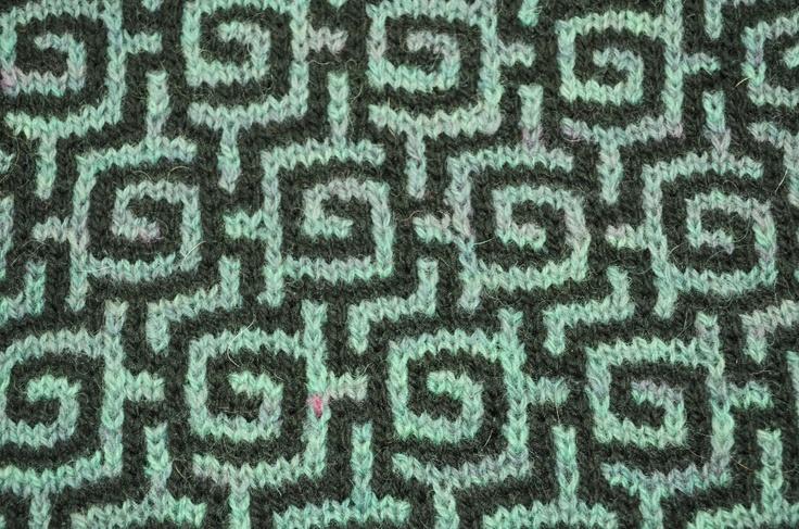 Nice mosaic knitting pattern - 10 stitch repeat