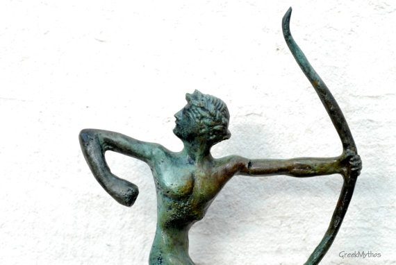 Archer Athlete Greek Statue in Bronze by GreekMythos on Etsy