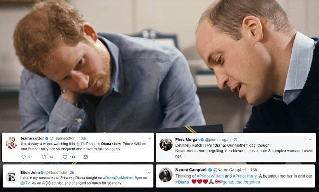 Emotion over Harry and William in Diana documentary