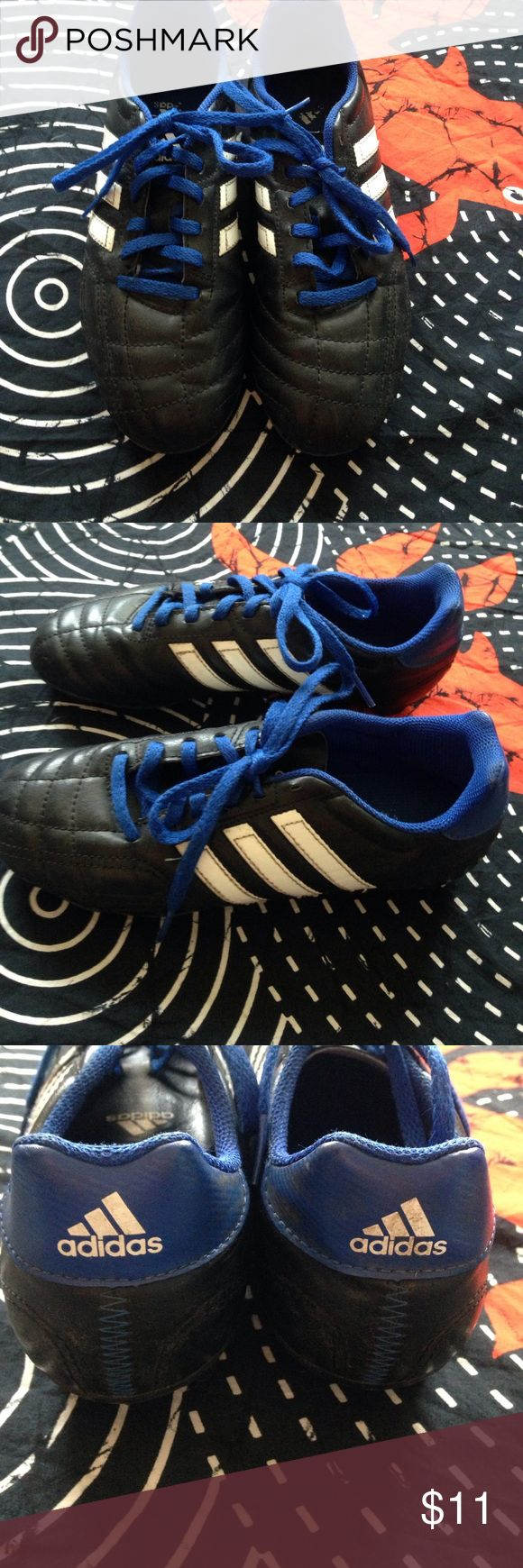 youth ADIDAS turf soccer cleat Indestructible. Great starter pair. Excellent used condition. Adidas Shoes