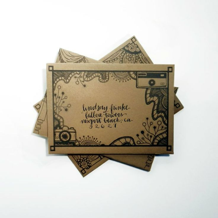 DIY Mail Art Envelope Template 114 best