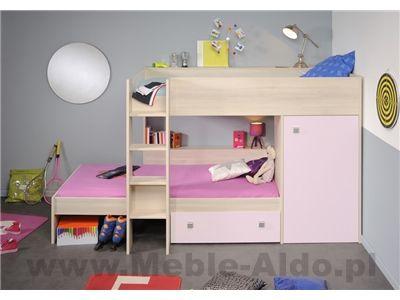 Łóżko piętrowe Ninety 2420LISR-2 opcje ustawienia