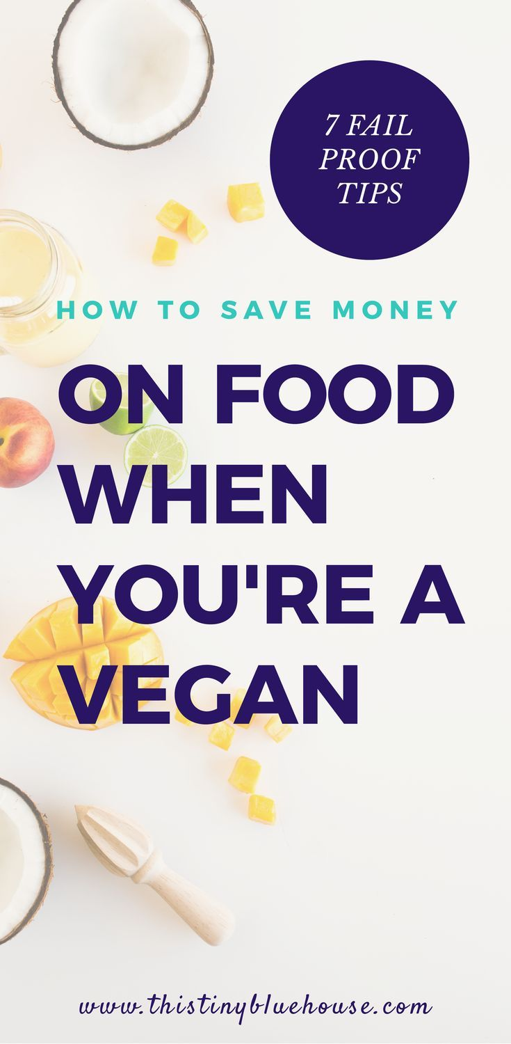 How to save money on food while being a vegan