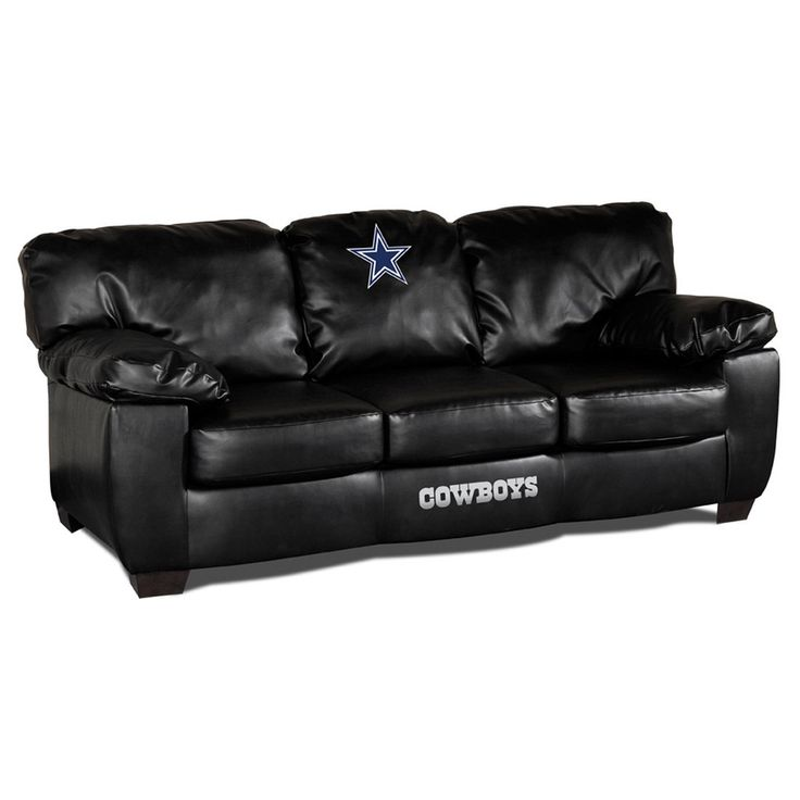 Jute Rugs This fantastic Dallas Cowboys Black Leather Classic Sofa will take your Cowboys man cave to the