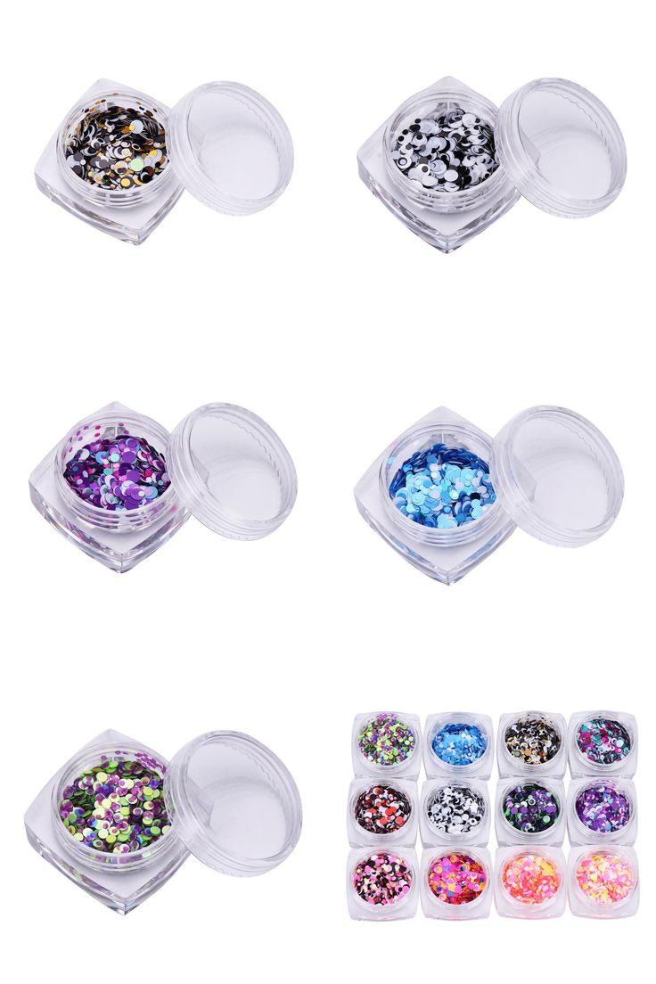 [Visit to Buy] Mint maquiagem  1pcs Colors Nail Art Tips Stickers Acrylic 3D Glitter Sequins Manicure DIY  Apr19#2 #Advertisement