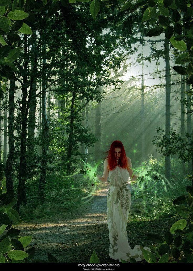 Druid - June 2014 #druid #redhairs #forest #magic #photoshop #starquakedesign   Stock credits: http://faestock.deviantart.com/art/Era8-444889869 Brushes credits: Dimension Brushes by Axeraider70