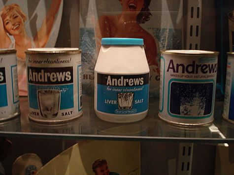 1970s Andrews liver salts tin. I remember the instructions saying you could use half a teaspoon to make a refreshing drink. I used to love it!