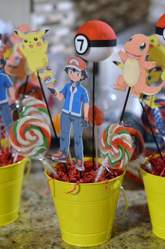 Hey, I found this really awesome Etsy listing at https://www.etsy.com/listing/256024247/pokemon-birthday-centerpieces-with