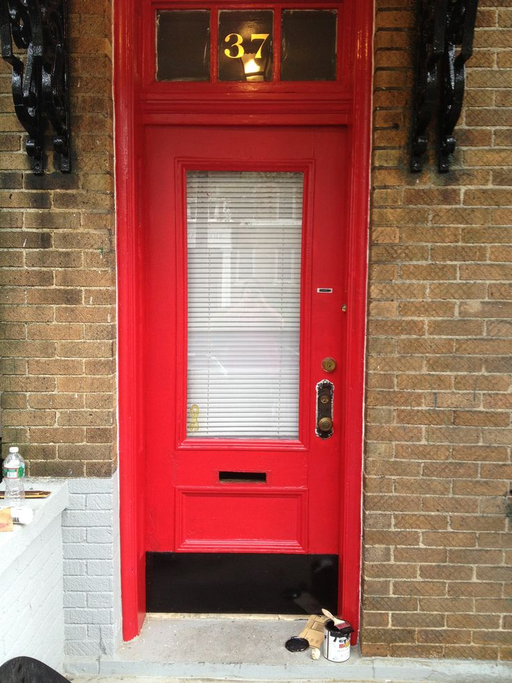 Red Door Freshly Painted Red Door Sherwin Williams Show Stopper I Love My Red  Door Manicure