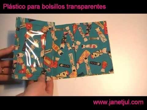 Tutorial plástico transparente para realizar bolsillos de Jan et Jul