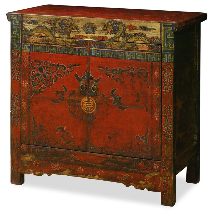 Hand Painted Kitchen Cabinets: Hand-Painted Tibetan Cabinet