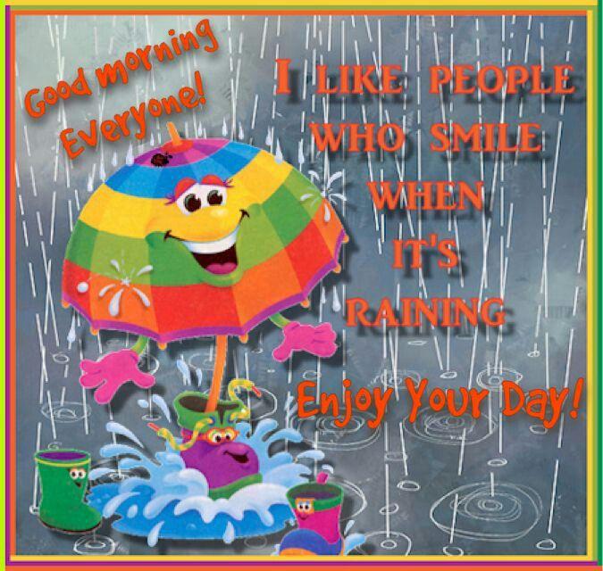 Good Morning Rainy Day Quotes: Happy Rainy Wednesday.
