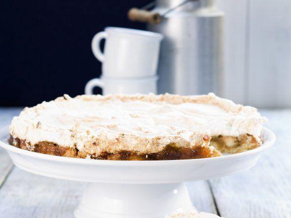Rezept: Baiserkuchen mit Stachelbeeren