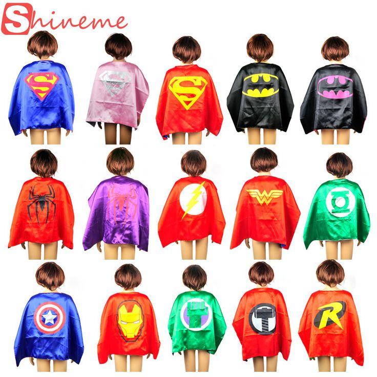 1 pc kids superhero capes movie hero baby superhero costumes for boys girls children birthday gift Party supplies heros cosplay