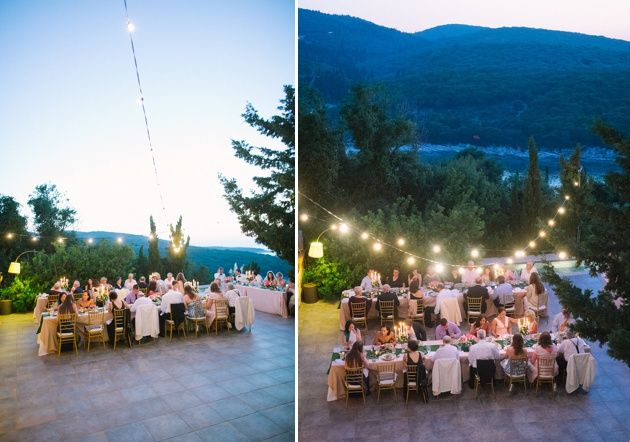 Sunset reception in Kefalonia by Stella and Moscha Weddings Photo by Adrian Wood