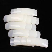 500 Pçs/set 10 Tamanhos Nudez Branco Falso Nail Art Dicas de Design Francês Acrílico UV Salon Projeto Manicure Ferramenta Frete Grátis alishoppbrasil
