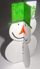 This 3D Christmas snowman and tree are very quick to make with this printable.