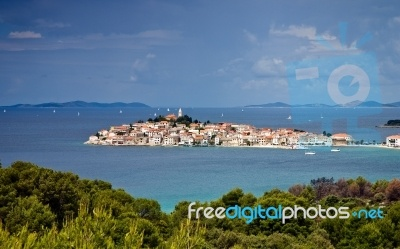 Mediterranean Town of Primosten in Croatia