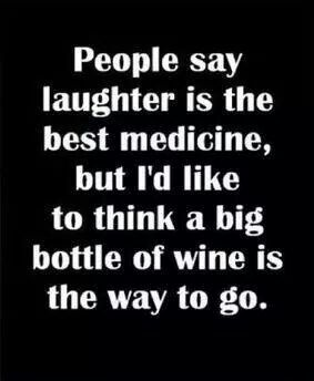 Friday Wine laughter