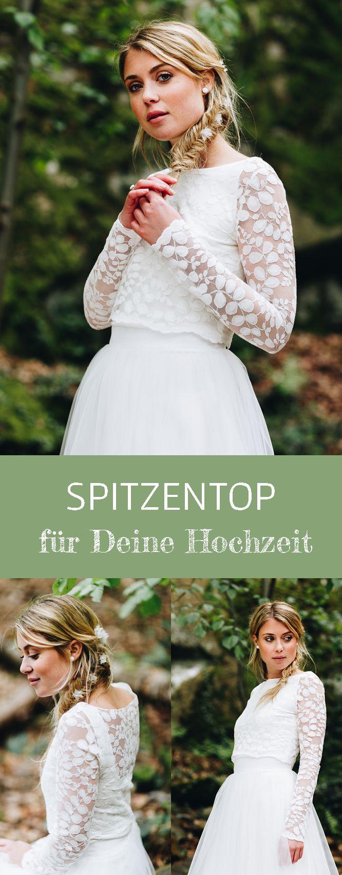 Spitzentop aus Botanik-Spitze für die Hochzeit – Norine