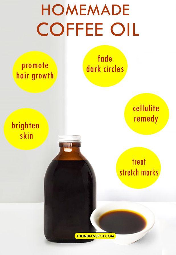 DIY HOMEMADE COFFEE OIL RECIPE AND BENEFITS