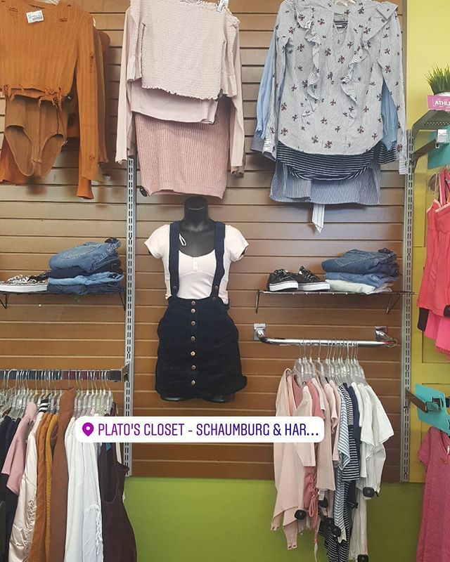 We Like To Switch It Up At Plato S Closet Come Check Out New Displays For Outfit Ideas Plato Closet Outfits Wardrobe Rack