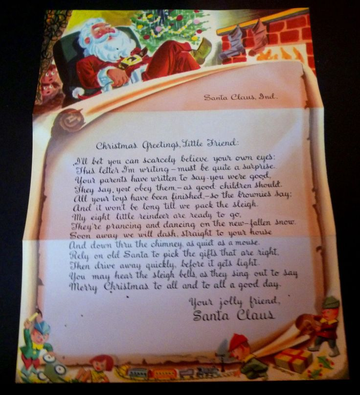 100 best images about santa claus in on pinterest post for Postmarked letter from santa